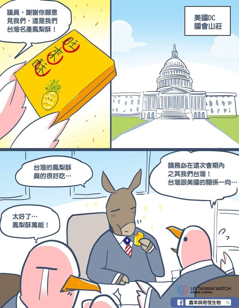 蠢羊時事:萬能伴手禮 蠢羊×美國國會台灣觀測站