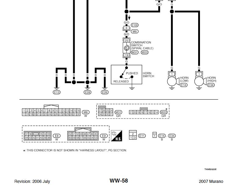 Help! Horn Wiring Schematics Nissan Murano Forum