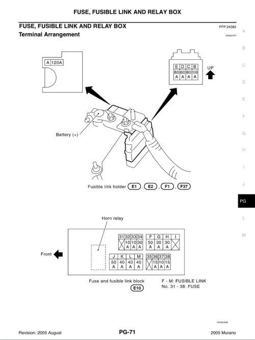 small resolution of 05 murano fuse diagram wiring library05 murano fuse diagram