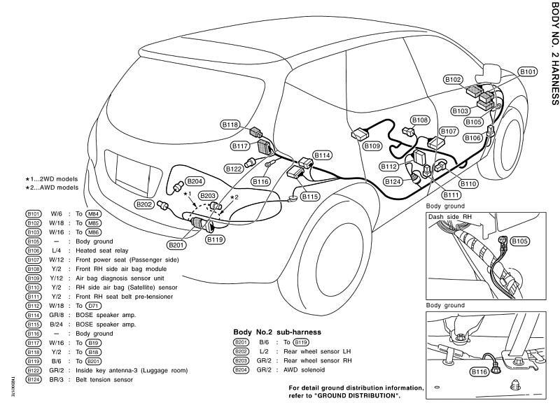 2006 Nissan Murano Wire Diagram Tail Lights : 43 Wiring