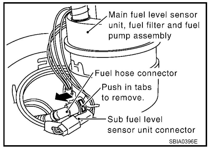 2003 Nissan murano fuel filter location