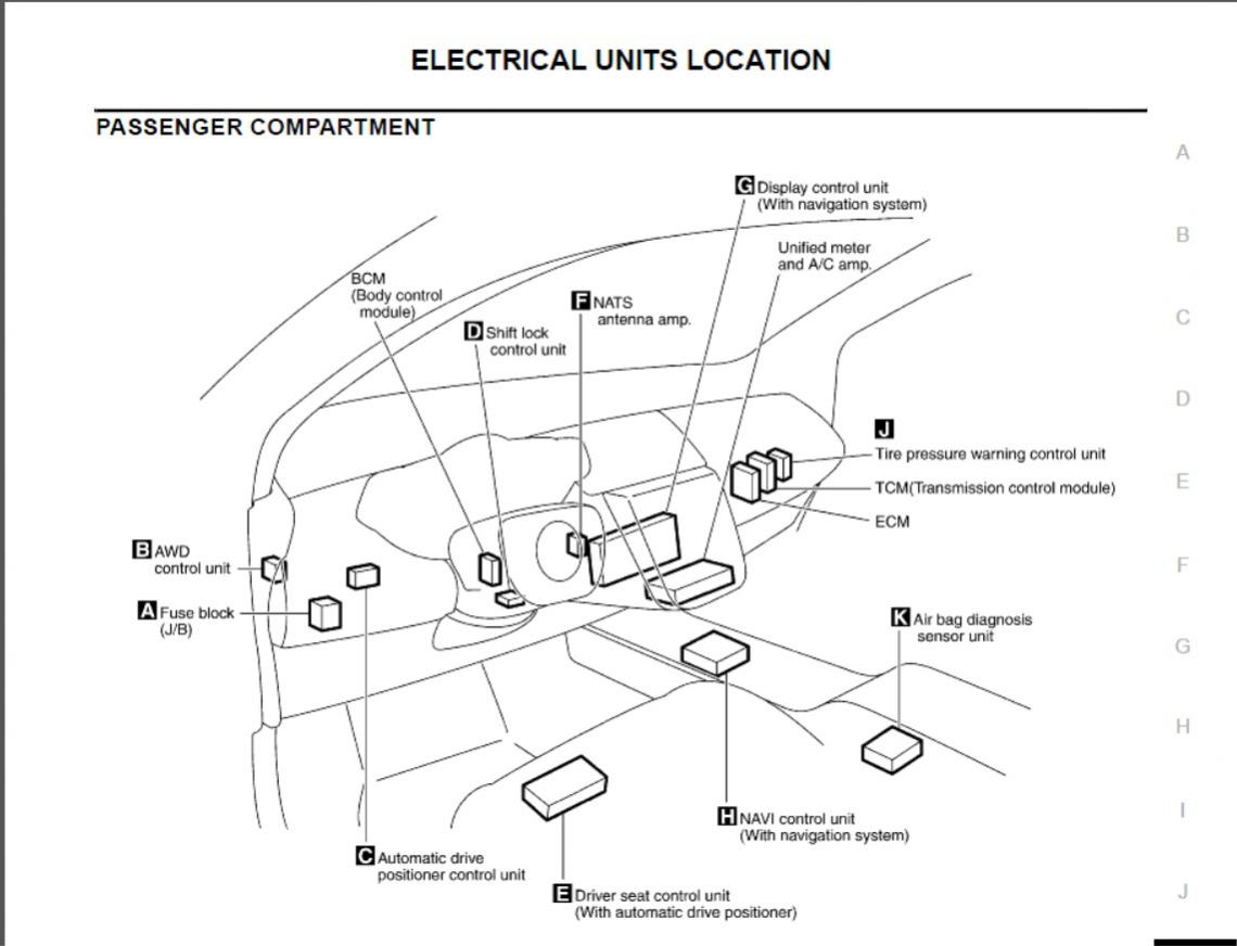 09 Murano Fuse Box Location Engine : 34 Wiring Diagram