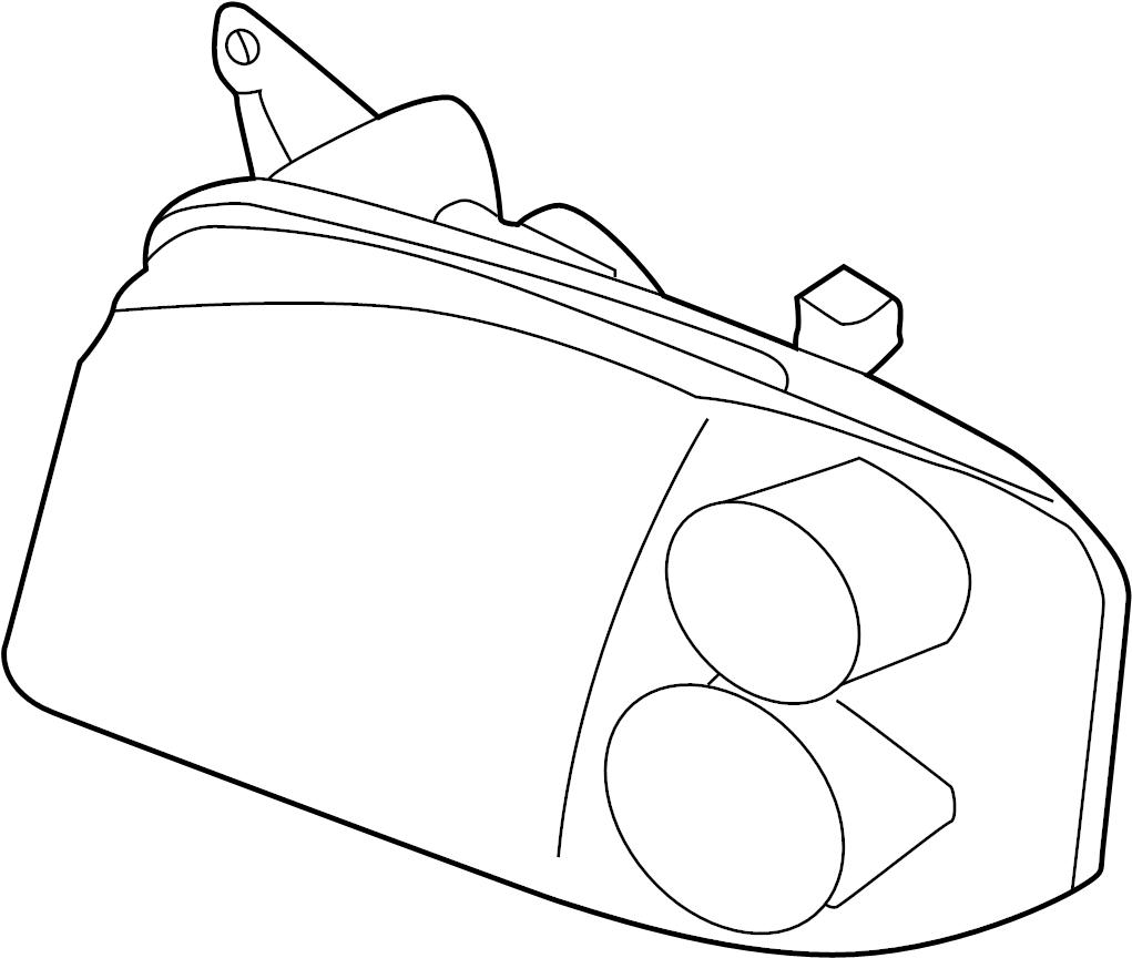 Nissan Frontier Headlight (Left). BEZEL, DARK, CHROMIUM