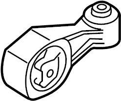 Nissan Juke Engine Support Rod. MOUNTING, TRANSMISSION