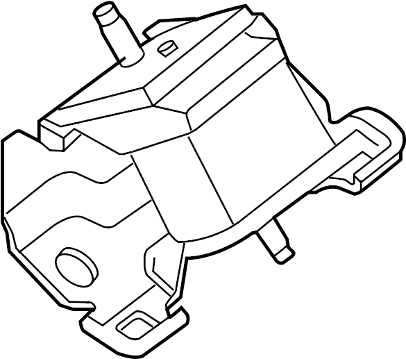Nissan Frontier Engine Mount (Front). MOUNTING, TRANS