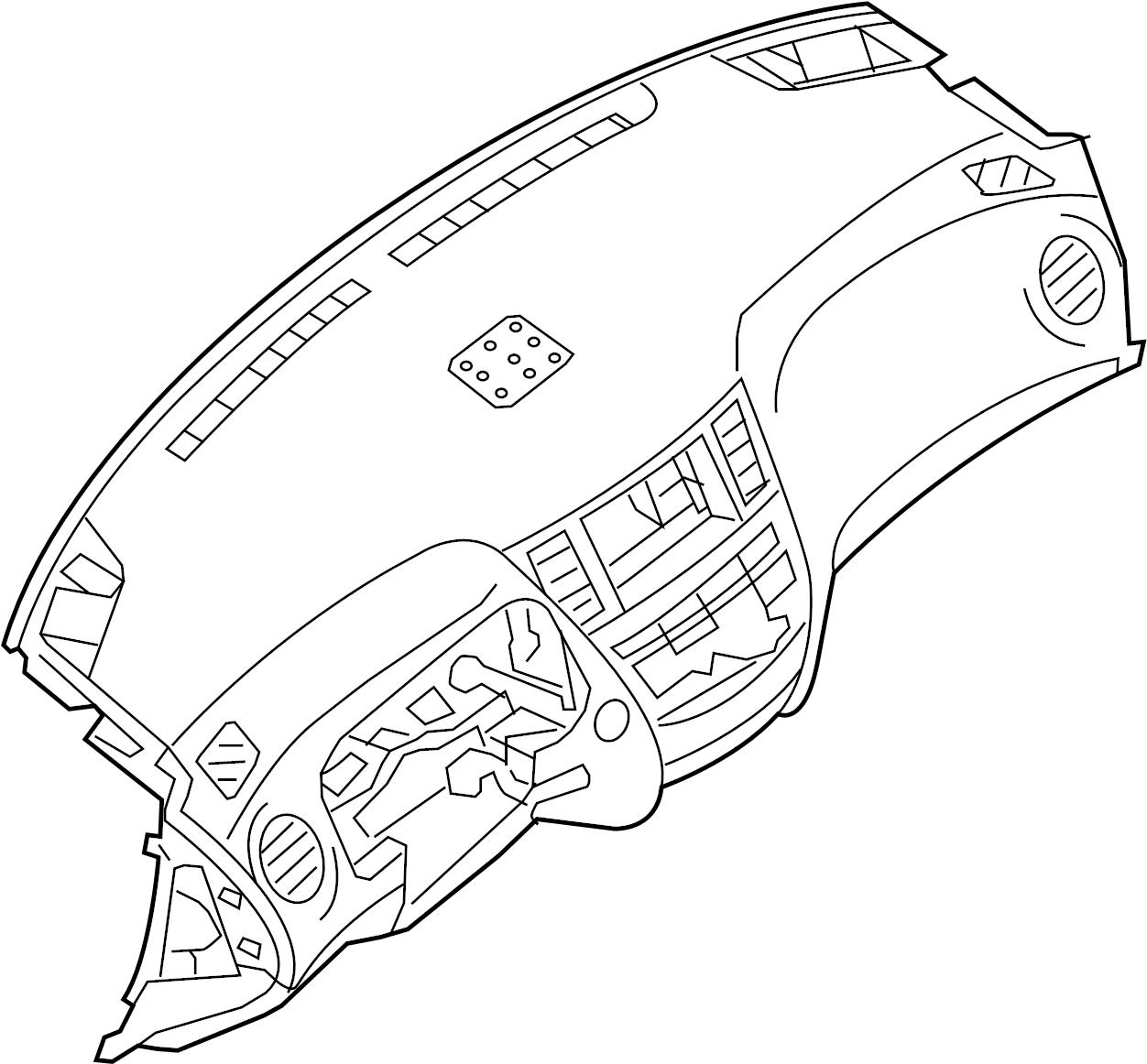 Nissan Pathfinder Dashboard Panel. INST, PAD, CLUSTER
