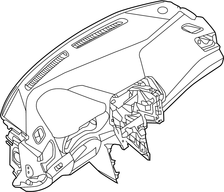 Nissan Maxima Dashboard Panel Inst Pad Lid