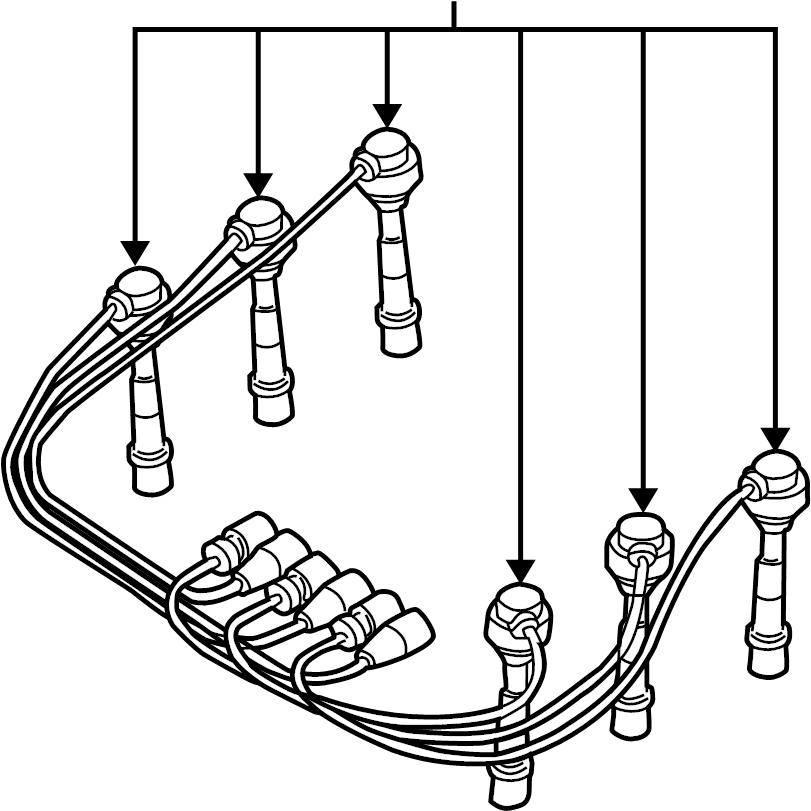 Nissan Pathfinder Spark Plug Wire Set. SYSTEM, IGNITION