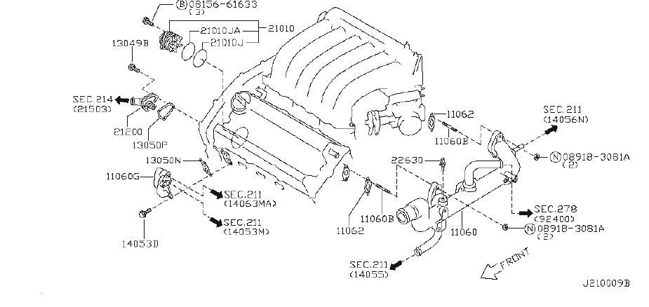 Nissan Maxima Engine Coolant Temperature Sensor. CUPE