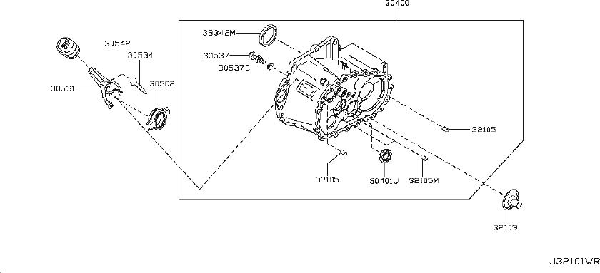 Nissan Maxima Manual Transmission Output Shaft Seal