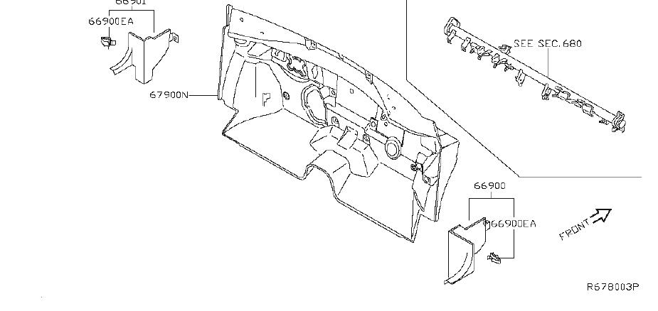 Nissan Maxima Engine Compartment Insulation (Lower