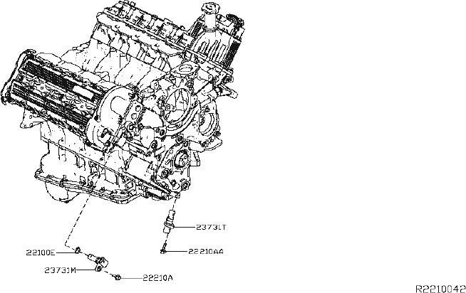 Nissan Titan Engine Camshaft Position Sensor O-Ring