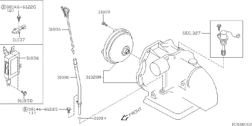 Nissan Murano Bracket Breather Hose. FITTING, ROOM, ENGINE