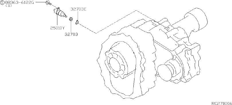 Nissan Frontier Vehicle Speed Sensor. TRANSMISSION, DOOR