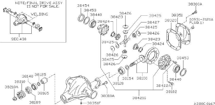 Nissan PICKUP Washer Thrust, Pinion MATE. DRIVE, FINAL