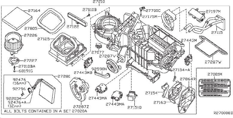 Nissan Frontier A/c evaporator drain. Heater, auto
