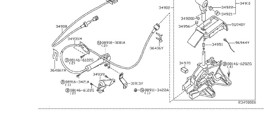 Nissan Frontier Automatic Transmission Shifter Cable