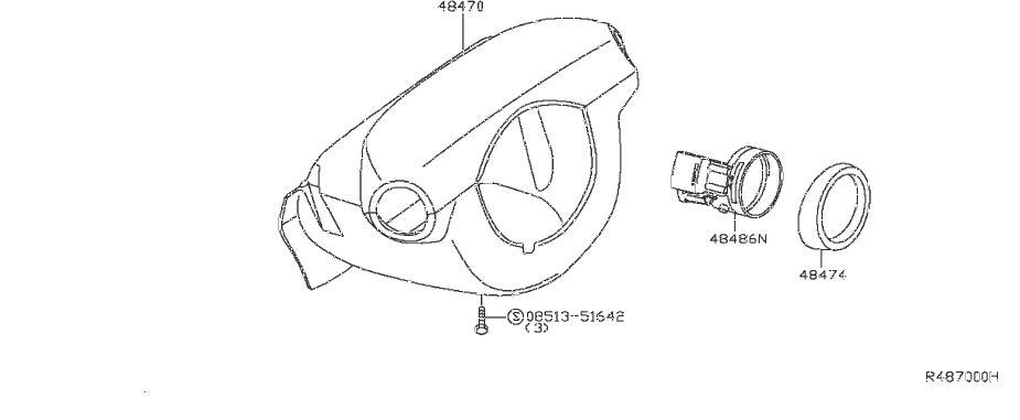 Nissan Frontier Ignition Lock Escutcheon. AUDIO, STEERING