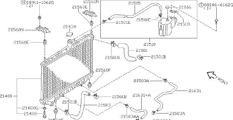 Nissan Altima Automatic Transmission Oil Cooler Hose