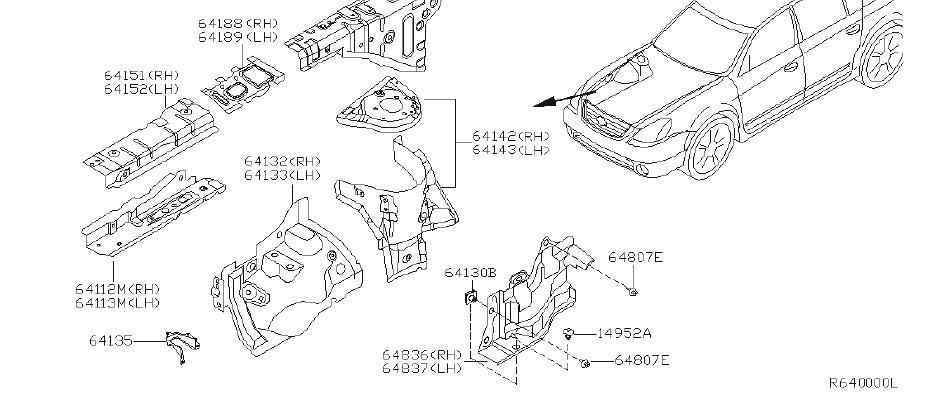 Nissan Altima Fender Apron Reinforcement (Right, Front