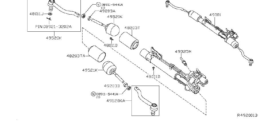 Nissan Altima Rack And Pinion Bellows Clamp. LHD, SPOR
