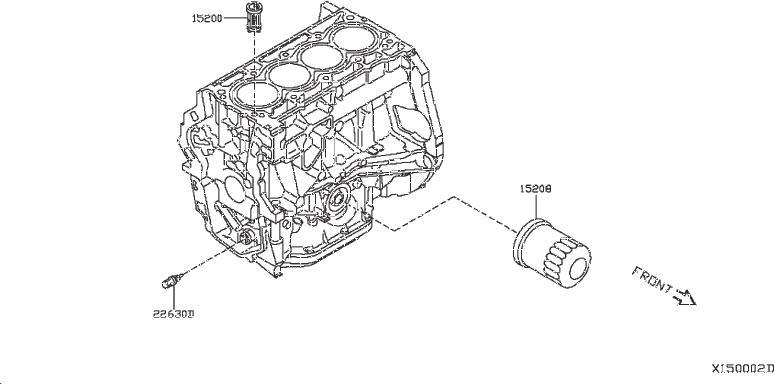 Nissan NV200 TAXI Engine Coolant Temperature Sensor