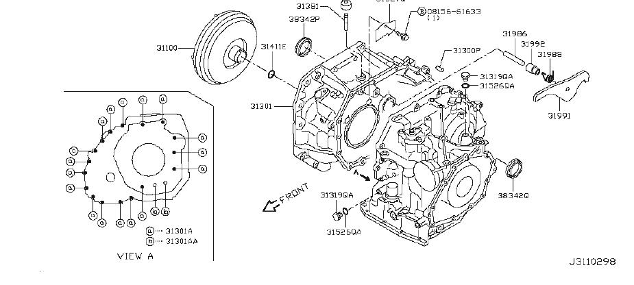 Nissan Versa Automatic Transmission Oil Pan Washer. ORG