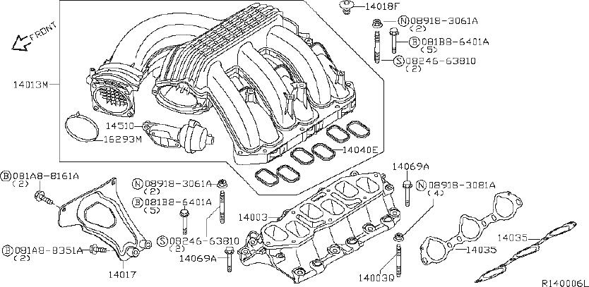 Nissan Xterra Cover Exhaust Manifold. INTAKE, ENGINE