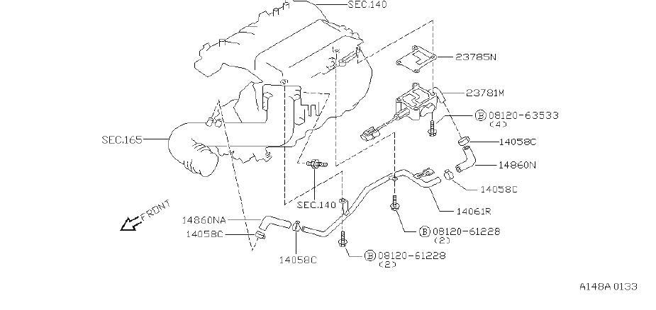 Nissan Pathfinder Fuel Injection Idle Air Control Valve