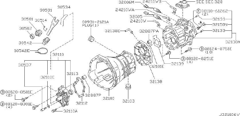 Nissan Pathfinder Neutral Safety Switch. TRANSMISSION