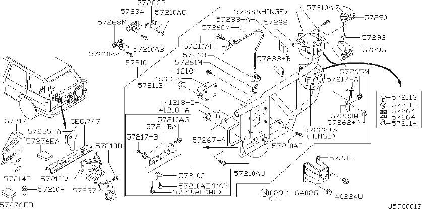 Nissan Pathfinder Wire Lock Contour. Wire Lock Control