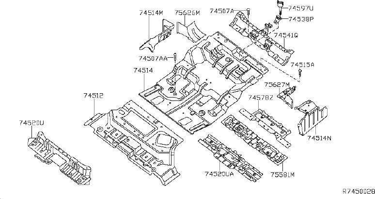 Nissan Pathfinder Extension Floor Side. (Right, Rear
