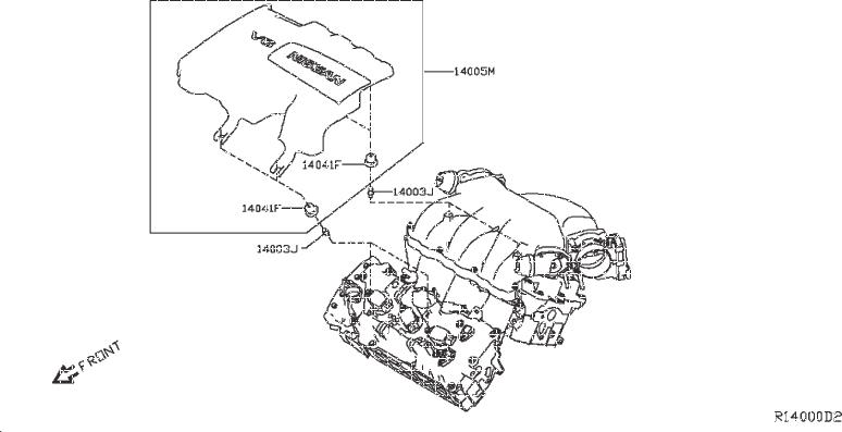 Nissan Pathfinder Fuel Injection Throttle Body Mounting