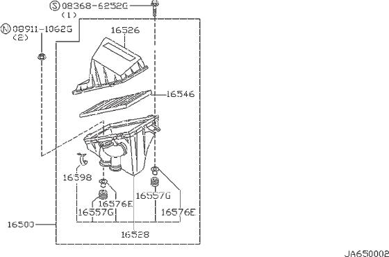Nissan Sentra Mass Air Flow Sensor Screw. CLEANER, FED
