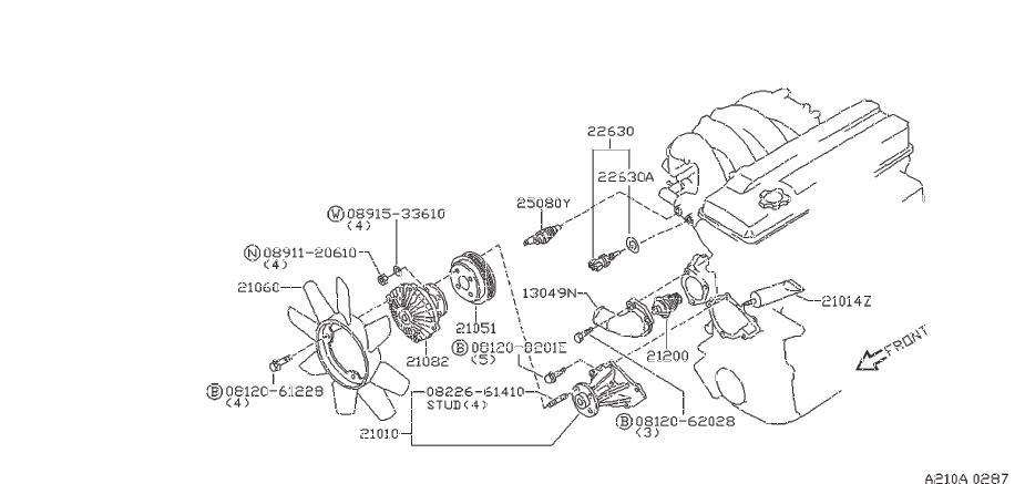 Datsun PICKUP Engine Coolant Thermostat. NIHON, FUJI