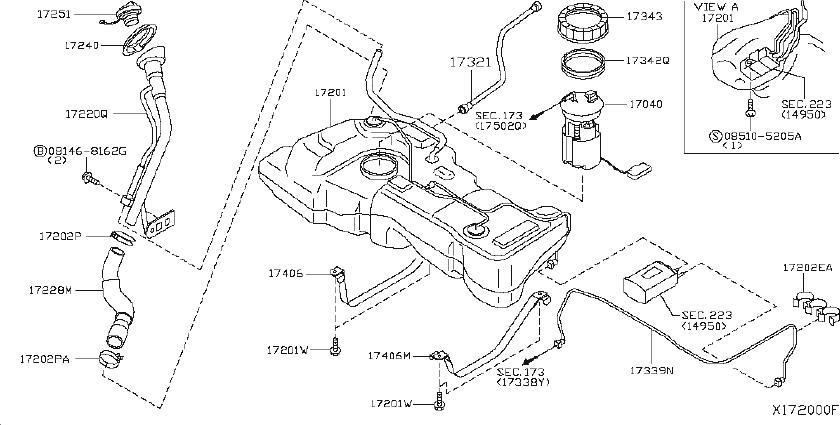 Nissan Versa Fuel Pump Inner Tank. Pump Complete Fuel