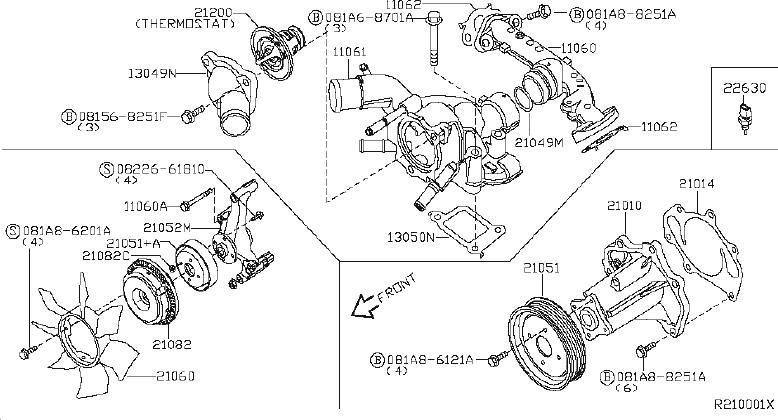Nissan Armada Engine Coolant Temperature Sensor. BUMP