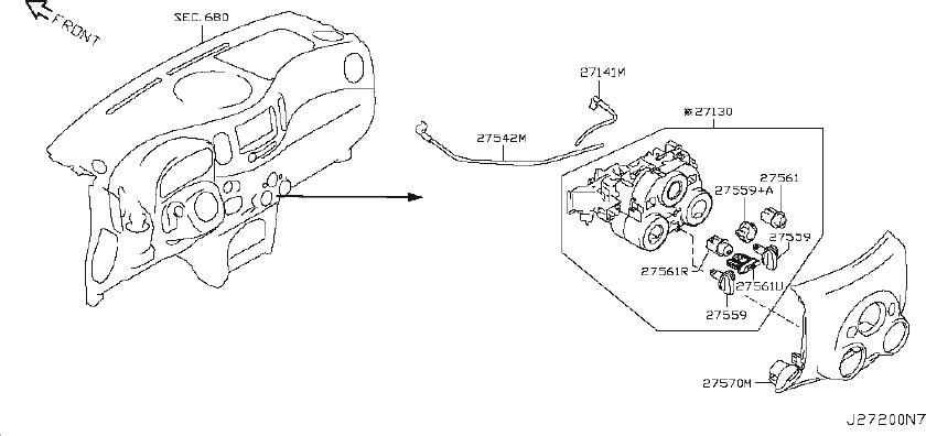 Nissan Cube Hvac Heater Control Knob. AIR, CONDITIONER
