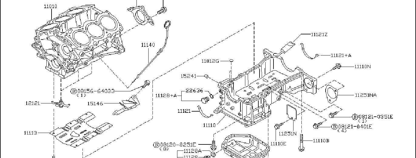 Nissan 350Z Engine Oil Dipstick Tube Bracket. ASSEMBLY