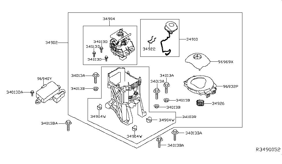 2019 Nissan Leaf Auto Transmission Control Device