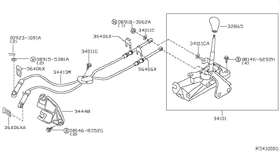 2004 Nissan Maxima Transmission Control & Linkage
