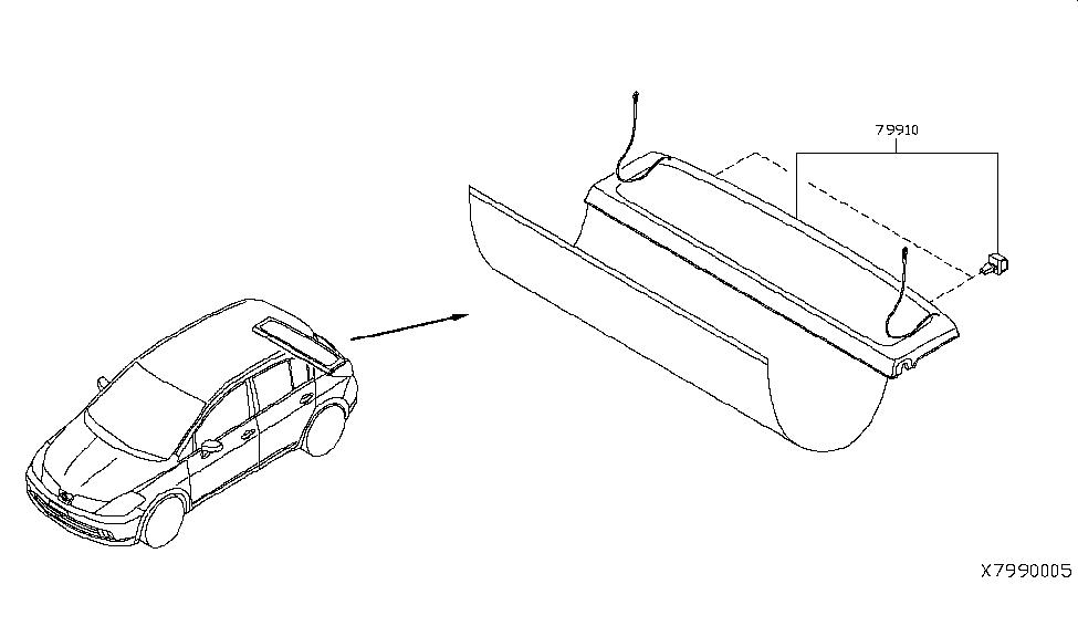 2012 Nissan Versa Hatchback Rear & Back Panel Trimming