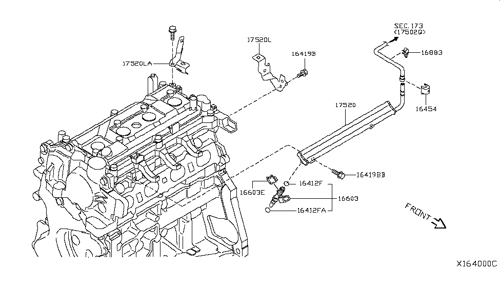 2008 Nissan Versa Hatchback Fuel Strainer & Fuel Hose