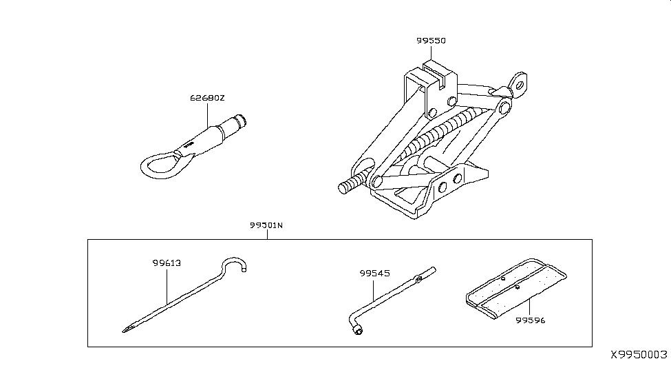 2012 Nissan Versa Hatchback Tool Kit & Maintenance Manual