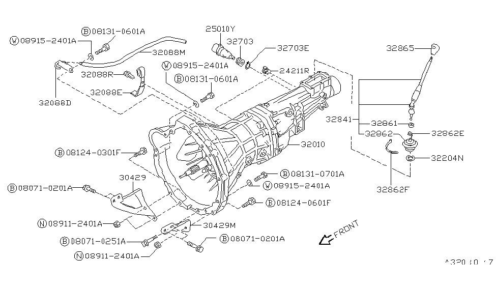 1992 Nissan 240SX Manual Transmission, Transaxle & Fitting
