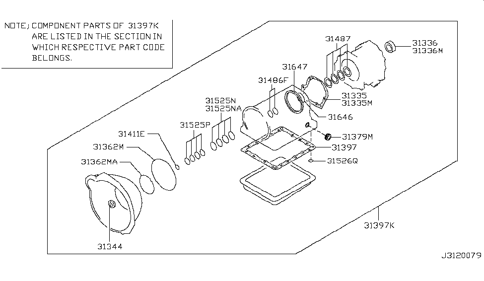 2007 Nissan Xterra Gasket & Seal Kit (Automatic)