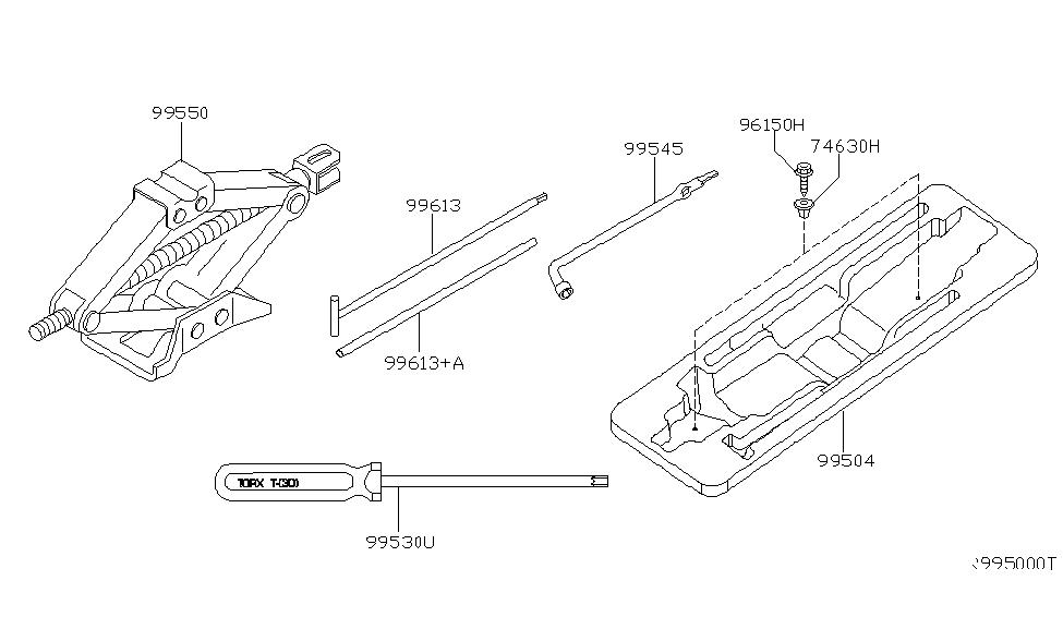 2005 Nissan Xterra Tool Kit & Maintenance Manual