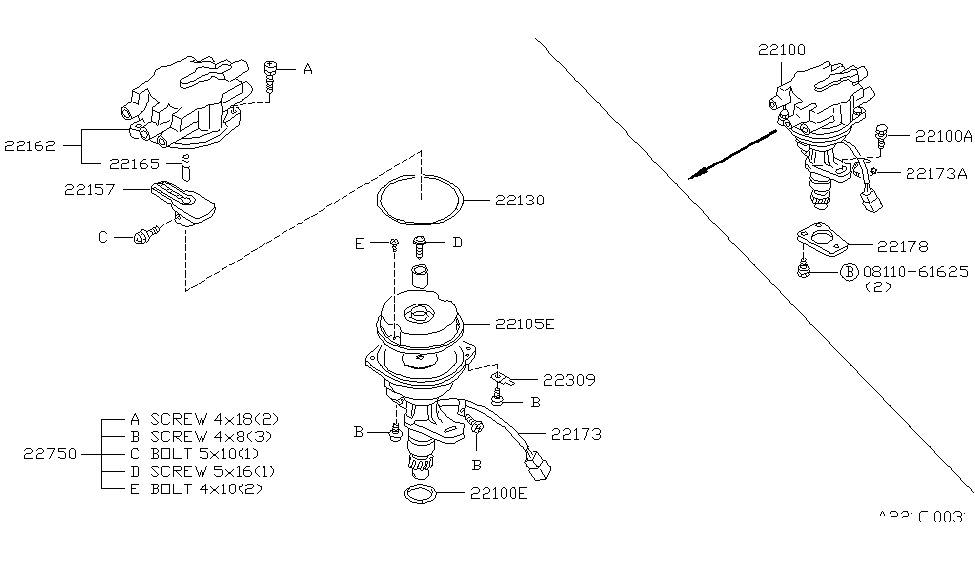 1985 Nissan 300ZX Distributor & Ignition Timing Sensor
