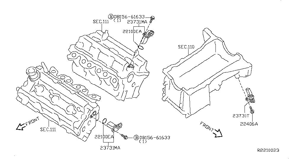 2011 Nissan Altima Sedan Distributor & Ignition Timing Sensor