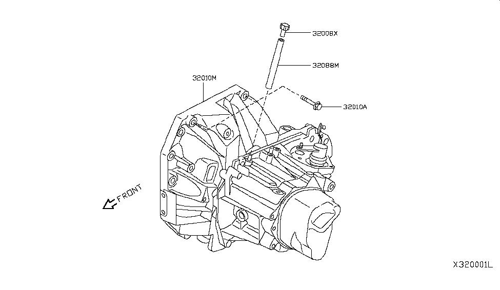 2017 Nissan Versa Sedan Manual Transmission, Transaxle